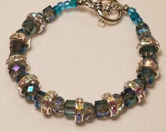 Blue Tone Bling Bracelet