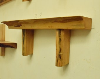 No. 55 - Thick Elm Live Edge Shelf