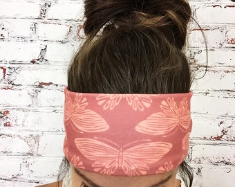Boho Butterfly - Coral - Eco Friendly Yoga Headband