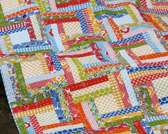 Off the Rail Quilt Pattern by Jaybird Quilts- Multiple quilts sizes Baby Lap Twin King