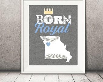 Kansas City Royals Baby Print - Royals Print - Baby Baseball Printable File - Boy