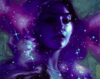 Stardust VI - Print of original oil painting