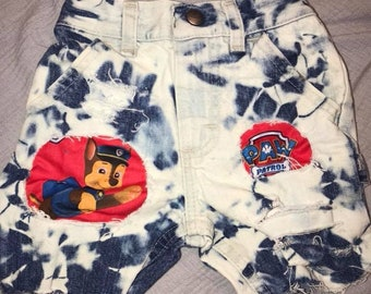 Distressed Paw Patrol shorts