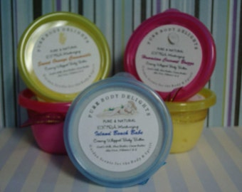 Creamy Whipped Body Butter Mousse Delights---Island Beach Babe---So Silky Smooth--Made with Goats Milk--Shea Butter--Cocoa Butter--Aloe--Vitamin C and E and a touch of shimmer