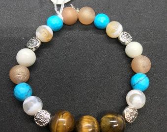 6   3/4 inch gemstone bracelet