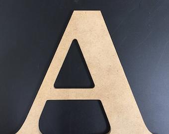 """Wood Letters - Unfinished - 1/4"""" MDF - News 701 BT Font"""