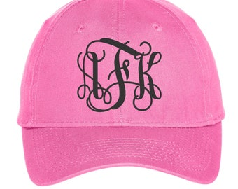 Custom Hat Embroidered with Monogram or Initials, Personalized Hat in Colors, Caps for Women or Men
