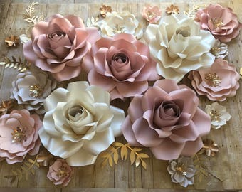 Paper Flowers Backdrop set of 30 items