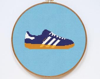Adidas Gazelle Cross Stitch Pattern, Shoes Cute Cross Stitch Chart, PDF Format, Instant Download