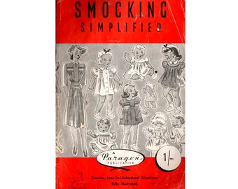 SMOCKING SIMPLIFIED 1940s Heirloom Hand Sewing Instruction Booklet