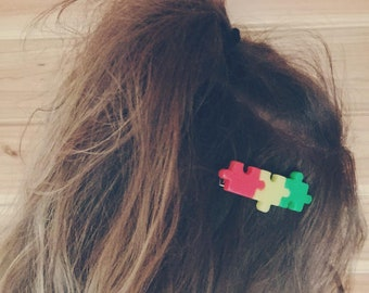 Cute Puzzle Hairclip Barrette