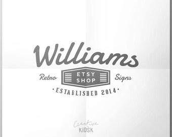 Retro Blog Logo Design. PSD File. Photoshop Template. Instant Download Logo. Vintage Boutique Branding. Website Logo. Shop Header. #0023.