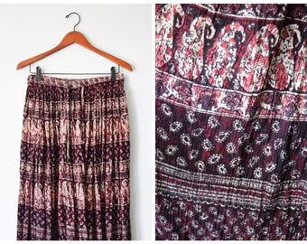 Vintage Indian gauze maxi skirt   Fits many