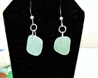 Seafoam Earrings, Sea Glass Earrings, Puerto Rico Sea Glass, Sea Glass Earrings, Summer Earrings, Mothers Day Gift, Beach Gift