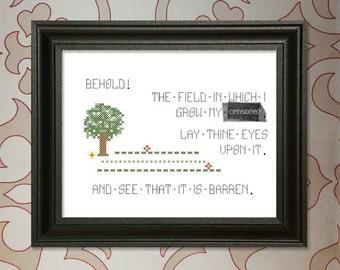 Behold!  My Field of F*cks!  (Mature) Cross-stitch Pattern