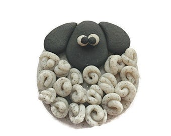 Sheep Fridge Magnet, Refrigerator Magnet, Kitchen Decoration, Cute Home Decor, Polymer Clay, Custom Magnet