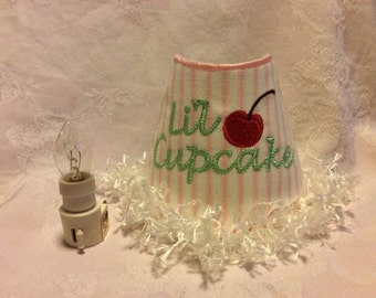 Night Light, Embroidered 'Lil Cupcake'.