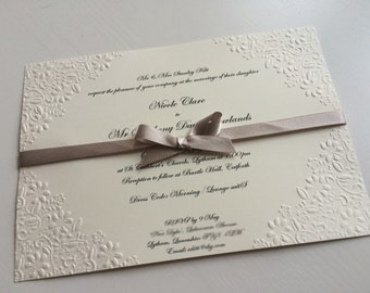 Classic Embossed Wedding Invitations