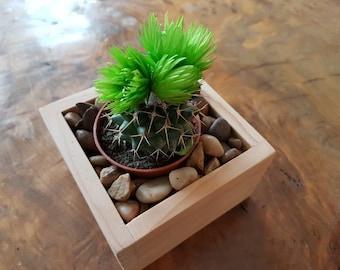 Zen Garden Decor, Zen Garden , Miniature Planter For Miniplants, Cedar  Wood, 1
