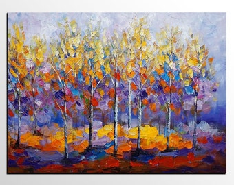 Canvas Art, Large Art, Abstract Painting, Oil Painting, Abstract Art,  Canvas Painting, Wall Art, Canvas Art, Original Painting, Forest Tree