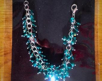 beautiful multifascited Beaded crystal bracelet