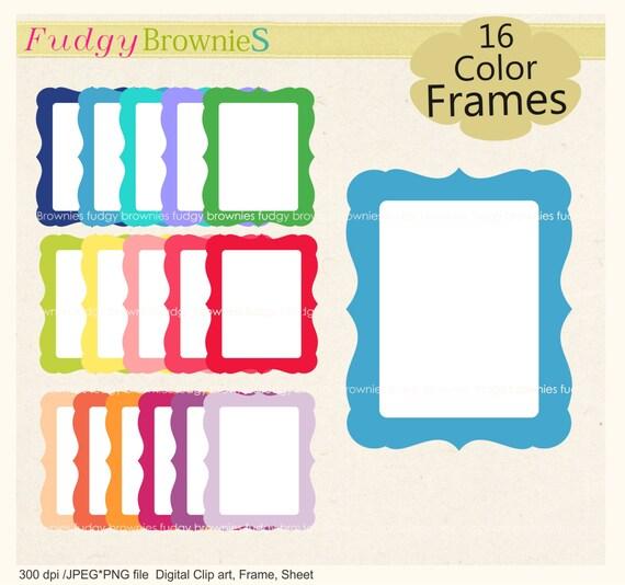 ON SALE Frame Clip Art Frames Bracket Frame Clip Art Kids Frame