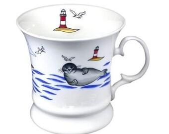 Porcelain coffee mug, mug, coffee pot, mug-seal NAME * * * Wished name possible *