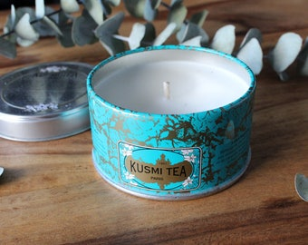Kusmi tea candle // Imperial Label // Parisian // travel candle //  small size  // low scent