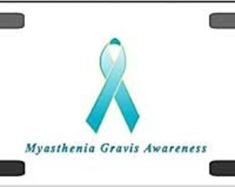 Myasthenia Gravis License Plate