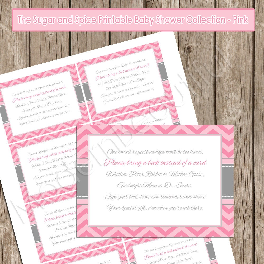 Insert Card Book instead of a Card Pink Chevron