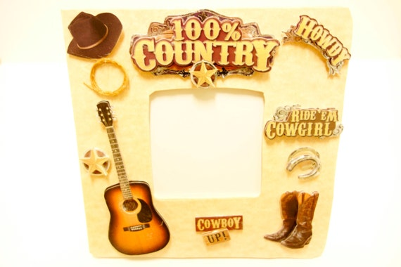 Music Frame Country Music Cowboys Musician Legend Guitar