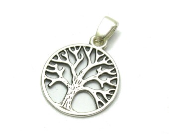 PE001123 Sterling silver pendant Tree of life Solid 925 Charm