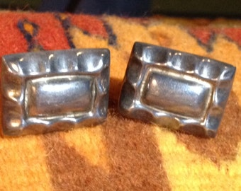 Vintage Sterling Silver Mexican Earrings