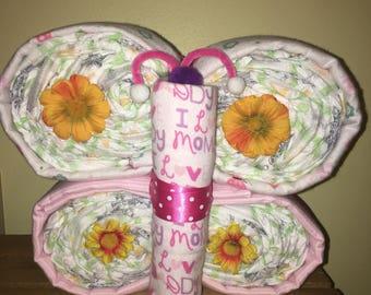 Butterfly Diaper Cake (Girl)