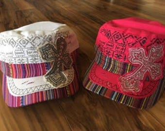 Sequined Cross Hat