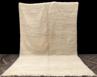 7x11 Large Beni Ourain PLAIN rug - Beniourain carpet - 100% wool rug - Morocco rug - Area rug - White rug - Berber rug - Tapis Teppich Boho