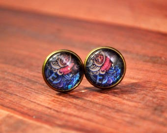 Boho Earrings, Boho Studs, Paisley Earrings, Bohemian Studs, Floral Boho Studs, Bohemian Jewelry, Floral Jewelry, Boho Stud Earrings