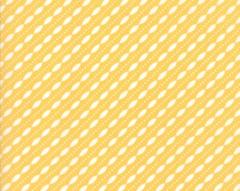 Lulu Lane Petal Stripe fabric in Buttercup Yellow and White by Corey Yoder for Moda Fabrics #29026-13