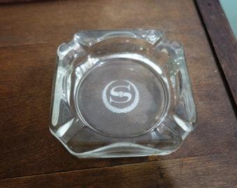 Vintage Sheraton Glass Ashtray Advertising