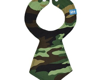 Camouflage Baby Necktie Bib