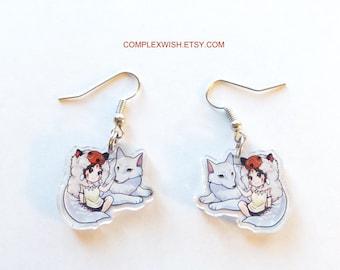 Princess Mononoke earrings - Mononoke