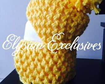 Handmade Crochet Hat and Cowl