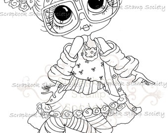 INSTANT DOWNLOAD Digital Digi Stamps Big Eye Big Head Dolls Messy Bessy IMG798 My Besties By Sherri Baldy