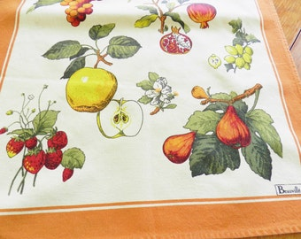 Beauville Fruit Towel, Made In France Towel, Gourmet Kitchen Towel, French Towel, Botanical Towel, Fruit Towel, FREE SHIPPING With 2 Towels
