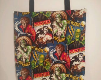 Horror Monsters Tote Bag