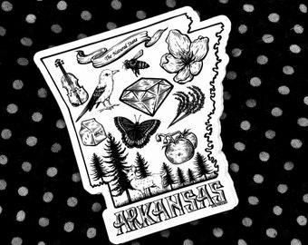 "Vinyl Sticker ""Arkansas You Run Deep in Me"""