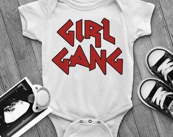 Girl Gang Infant Bodysuit - Girl Gang Onesie - Feminist Baby - Future Is Female - Strong Girls - Smart Girls - Cool Baby Clothes - Toddler