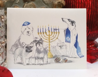 Hanukkah Holiday Card