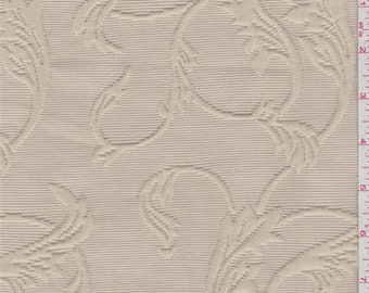 Golden Beige Scroll Matelasse, Fabric By The Yard