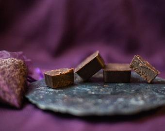 5 Lavender-Peppermint Raw Vegan Chocolates